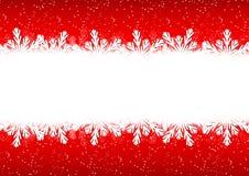 Граница снежинки рождества Стоковая Фотография RF