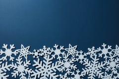 Граница снежинок рождества Стоковые Фото