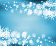 граница снежная Стоковые Изображения