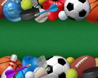 Граница спорта и деятельностей Стоковые Фото