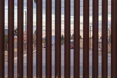 Граница США с Мексикой стоковое изображение rf