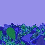 Граница с декоративными элементами Абстрактная карточка приглашения, дизайн волны шаблона для карточки иллюстрация штока