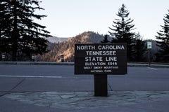 Граница Теннесси и Каролины Стоковая Фотография RF