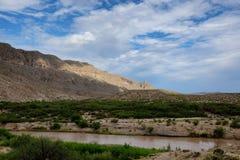 Граница Техаса & Мексики Стоковая Фотография RF