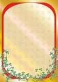 граница флористическая стоковая фотография