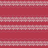 Граница фольклора вектора флористическая на красной безшовной предпосылке картины иллюстрация штока