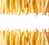 Граница хрустящих золотых фраев француза Стоковые Фотографии RF
