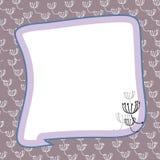 граница цветет пастель Стоковая Фотография RF