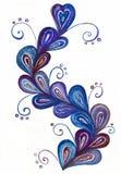 Граница цветка чертежа акварели Стоковая Фотография