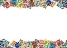 Граница штемпелей почтового сбора Стоковые Фото