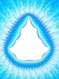 Граница Aqua рождества голубая Форма рождественской елки Замороженный o Стоковые Фото
