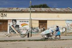 граница bolivian Аргентины стоковое фото