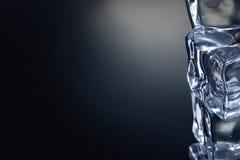 граница cubes льдед Стоковая Фотография
