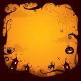 Граница Halloween для конструкции иллюстрация вектора