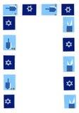 граница hanukkah стоковое изображение