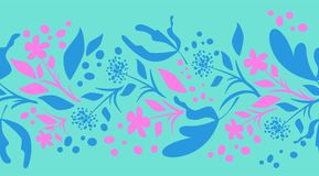 Граница Swirly флористическая Стоковая Фотография