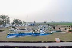 Граница Wagah, граница Пакистана Индии, Лахор Пакистан 28-ого февраля 2016 Стоковая Фотография RF