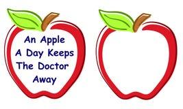 граници предпосылок яблока иллюстрация вектора