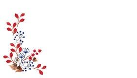 Границы акварели флористические Стоковые Изображения RF