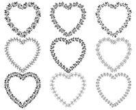 Границы венка сердца форменные Иллюстрация вектора