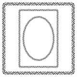 Границы круга, прямоугольных и квадратных черные Стоковые Изображения RF