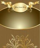 Границ-Древесин-золото Стоковые Фото