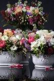 граничит розы иллюстрации букетов декоративные Стоковые Фотографии RF