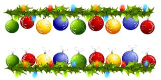 граничит swag орнамента рассекателей рождества Стоковые Фото