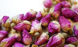 Граничьте рамку романтичных высушенных бутонов розы пинка Стоковые Фото