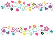 граничьте флористическое Стоковое Изображение RF