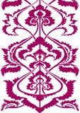 Граничьте флористический силуэт, вертикальный цветочный узор изолированный мотив Oriental предпосылки Стоковое Фото