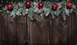 граничьте evergreen рождества стоковые фото