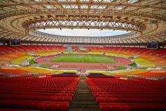 Грандиозная арена спорт комплекса Luzhniki олимпийского Стоковое Фото