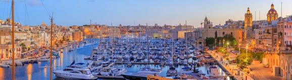 Грандиозная гавань в Мальте Стоковые Фотографии RF