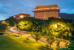 Грандиозная гостиница на холме Стоковое Фото