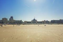 Грандиозная гостиница Kurhaus Гаага на пляже и прогулке Sche Стоковое Изображение