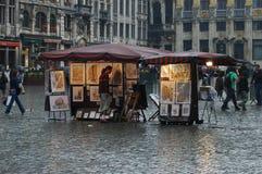 Грандиозное место в Брюсселе, Бельгии стоковые фотографии rf