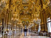 Грандиозное фойе Palais Garnier стоковая фотография