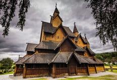 Грандиозное Heddal ударяет церковь, Норвегию стоковое фото