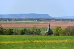 Грандиозное-Pré национальное историческое место, Wolfville, NS, Канада стоковые фото