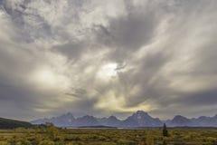 грандиозное teton национального парка Стоковые Изображения RF
