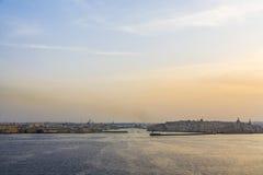 Грандиозные гавань и горизонт, Валлетта, Мальта Стоковое фото RF