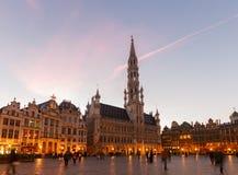 Грандиозные место и городская площадь, Brusseles стоковые фотографии rf