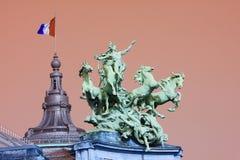 грандиозные palais paris стоковые фотографии rf