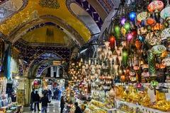 Грандиозный базар в Стамбуле, Турции Стоковое Изображение