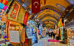 Грандиозный базар в Стамбуле, Турции Стоковые Фото