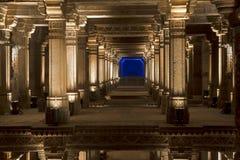 Грандиозный взгляд колодца шага Adalaj Ахмадабад, Гуджарат стоковая фотография