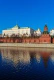 Грандиозный дворец Кремля, Москва, Россия Стоковое Изображение RF
