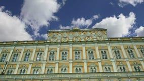 Грандиозный дворец Кремля на солнечный день kremlin moscow Россия видеоматериал
