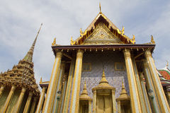 Грандиозный дворец (Wat Phra Kaeo) в Бангкоке, Таиланде Стоковое Изображение RF